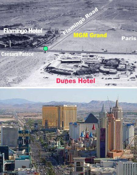 美国内华达州的拉斯维加斯——1954年和2009年
