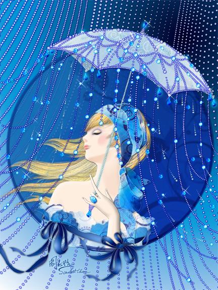 【艺术画廊】电脑绘画作品 - 和风细雨--ln - 和风细雨音乐坊