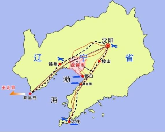 盘锦市位于辽宁省西南部,辽河三角洲中心地带.