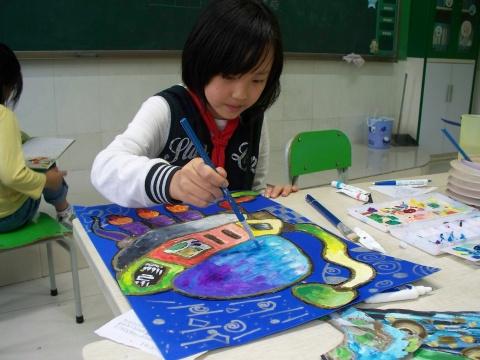 太空儿童获奖画