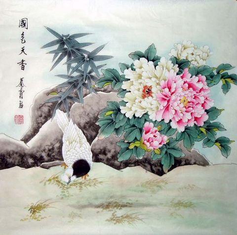 国色天香(国画)[引用] - 笑看人生 - 长征