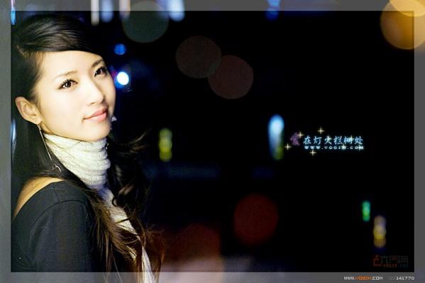 爱在灯火栏栅处「人像摄影」 - 唐萧 - 唐萧博客