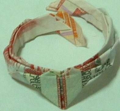教你用紙幣折戒指,男仔一定要来學下野啦 - 古城 -     ~~~古城风~~~