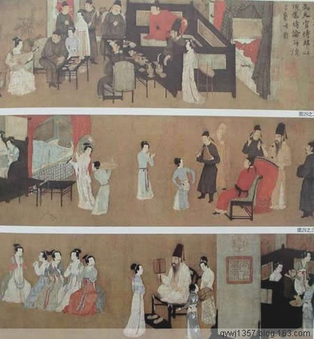 中国十大名画之 《韩熙载夜宴图》顾闳中 - 牧马人 - 牧马人