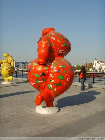 [原创] 三组卡通雕塑亮相刘庄桥旁 - 海河之韵 - 海河之韵          主页