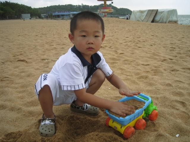 沙滩王子 娟然如试 家有王子