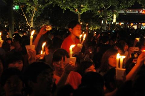 大雁塔北广场烛光祈福 - 玄灵山人 - 用平常心去走遍想去的所有地方