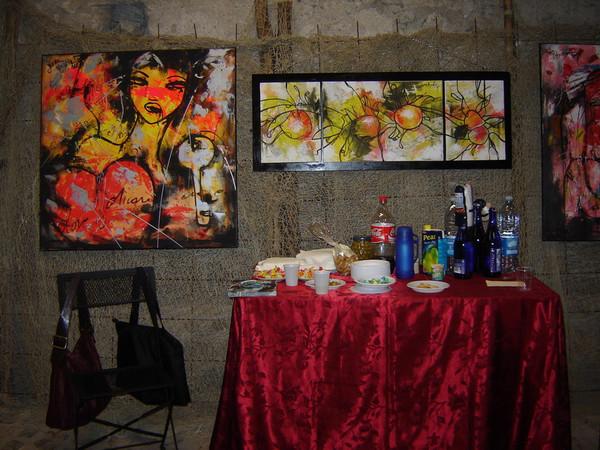 在意大利Civitavecchia光临两位女性艺术家画展(给小捣蛋) - 索夫 - 索夫的航海日志