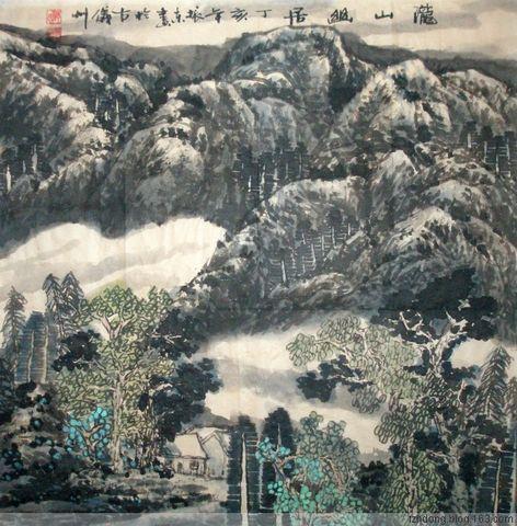陇山渭水 范振东先生的山水画作品欣赏 - 髯书之歌 - 髯書之歌 de 書畫沙龍