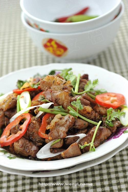 孜然羊肉-美食制作 - hanwa - 心灵的家园