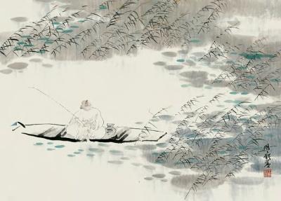 王明明先生中国画欣赏 - 髯书之歌 - 髯書之歌 de 書畫天地