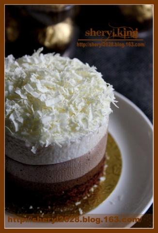 甜蜜情人节(三)——巧克力三重奏慕斯蛋糕 - 出尘素影 - 淡极始知花更艳