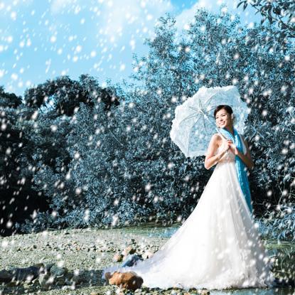 胡杏儿婚纱美图 - 水无痕 - 明星后花园