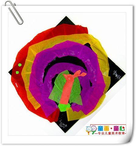 童画童心08秋季启蒙A班美术活动13——花孔雀 - 童画-童心儿童美术 - 童画-童心儿童美术