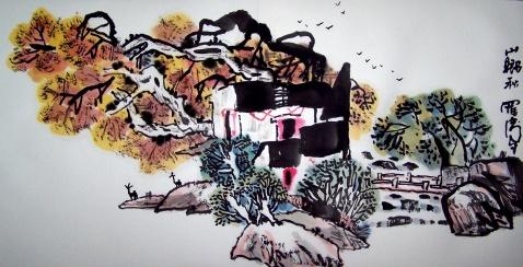 独特的田园山水画家罗伟先生作品欣赏 - 髯书之歌 - 髯書之歌 de 書畫天地