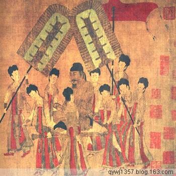 中国十大名画之 《步辇图》阎立本 - 牧马人 - 牧马人