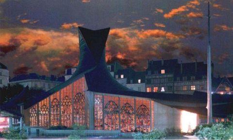 法国圣女贞德纪念教堂 - 野蔷薇 - 何鸣芳的版画藏书票博客