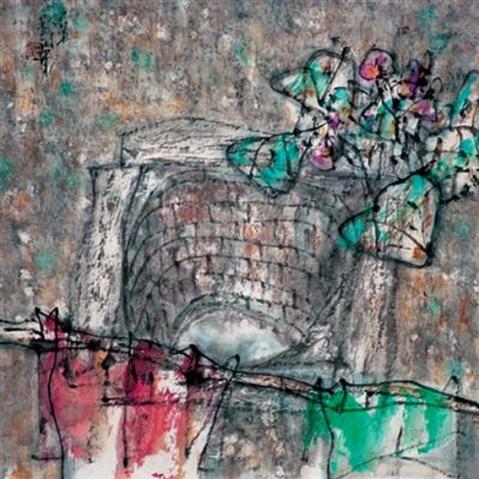 画里诗情 之 老井 - 苏文 - 中国当代美术家——路中汉