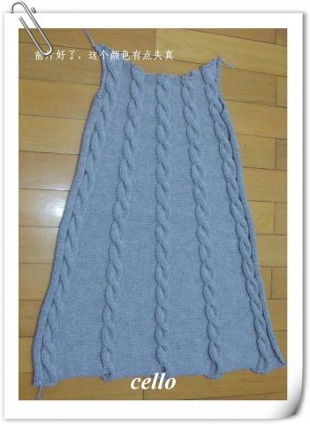 银灰色羊绒背心裙编织记录 - cello-ma - cello-ma的博客