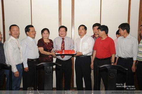 缅甸华商商会会长赖松生设宴欢迎仇和书记 - 仰光缅华互助会 - 缅华互助会