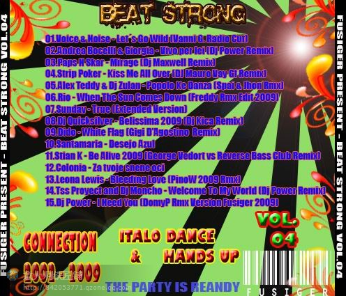 VA - FUSIGER PRESENT - BEAT STRONG VOL. 04 - 意大利铁匠 - 分享劲爽节奏--XINBO21