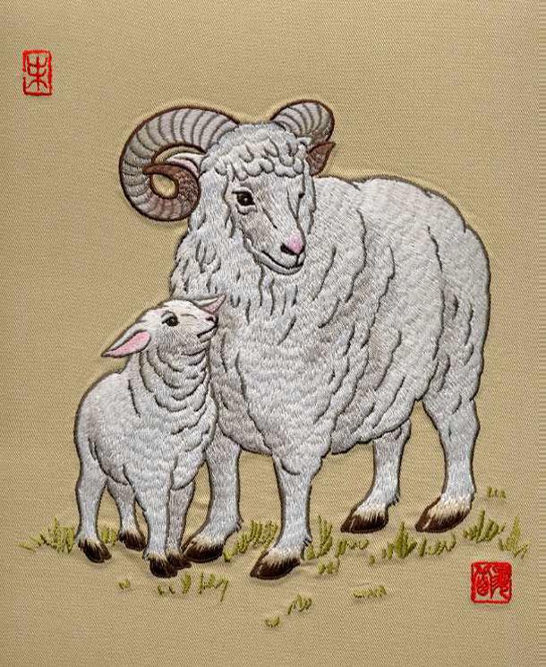 旭在东北歌曲:《妈妈刘和刚 》维妙维肖的剌绣---十二生肖图 - 旭在东北 - 旭在东北漂亮小屋