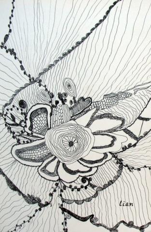 素描蕾丝布花纹图片