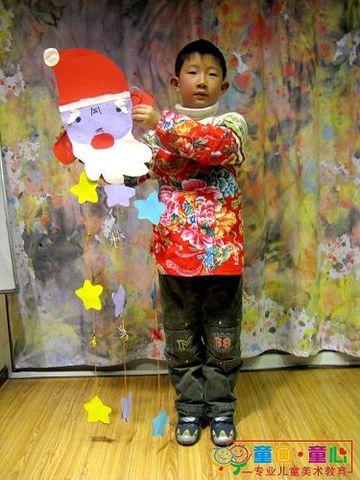 童画童心08秋季启蒙B-2班美术活动16——圣诞老人挂件 - 童画-童心儿童美术 - 童画-童心儿童美术