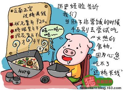 【猪眼看世界-美食】心急与过桥米线 - 恐龟龟 - *恐龟龟的卡通博客*