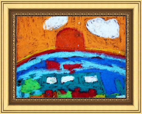 画坊学员的砂纸画作品