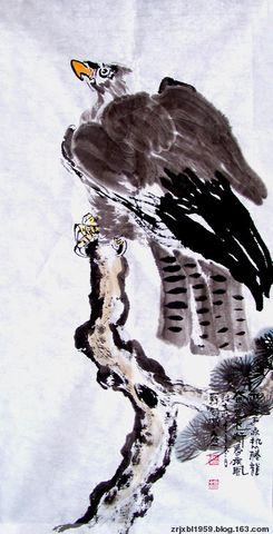 我的作品原创 - 關中醉人 - 关中醉人花鸟画
