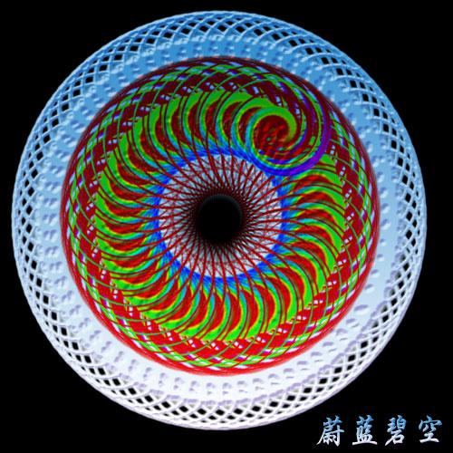 原创[PS滤镜螺旋线] - 蔚蓝碧空 - 神秘乐园