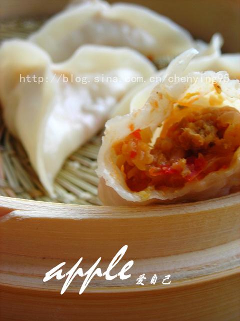 夏天没胃口,试试这款简单的开胃饺子吧:泡菜牛肉蒸饺 - 可可西里 - 可可西里