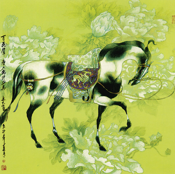 【国画】赵文元工笔画《宝马神骏》 - 南安野叟 - 南安野叟的博客