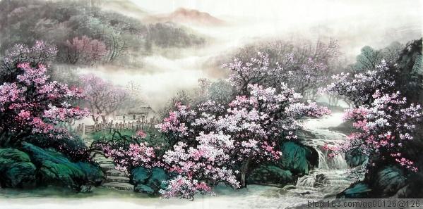[ 画堂春 ]   桃花源---题徐月明先生画 - [中国作家]电子旬刊 - Chinese Writers Asso
