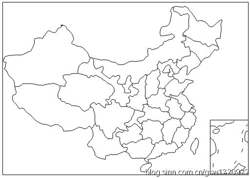 江西地图经纬图