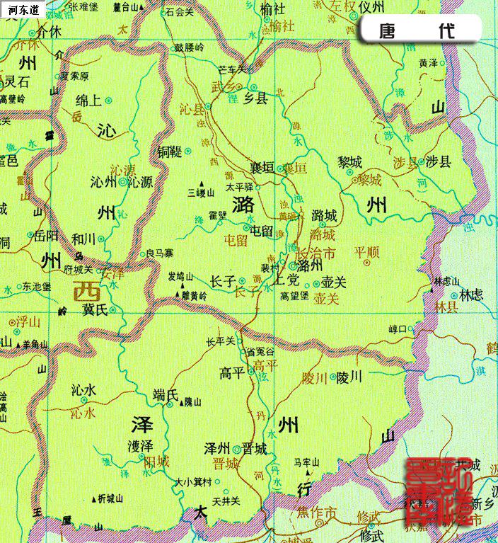 地图上的晋东南(上)