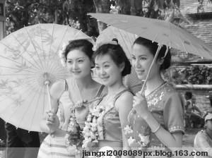 水一样的傣家姑娘 - 春季晚霞 - 春季晚霞祝朋友新年快乐!