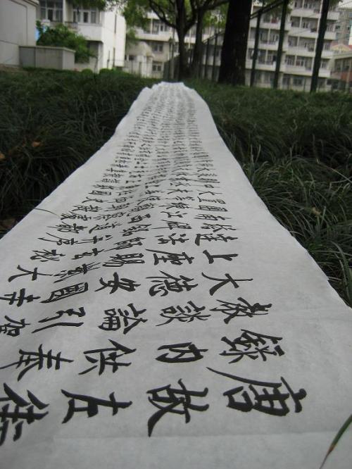 书法练习(玄秘塔碑0.5米*15米) - 三叹 - 大无居士