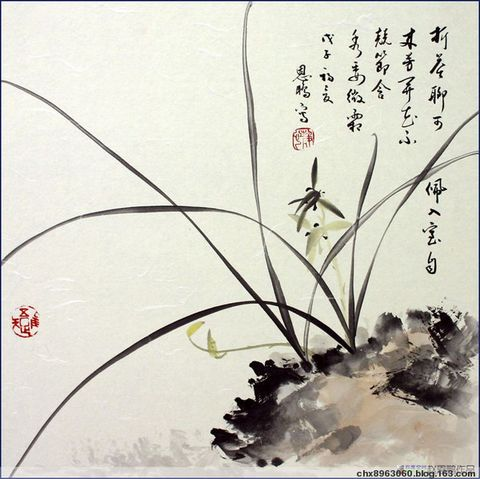 (王德谦院长) 的 国画 梅兰竹菊 - 髯书之歌 - 髯書之歌 de 書畫沙龍