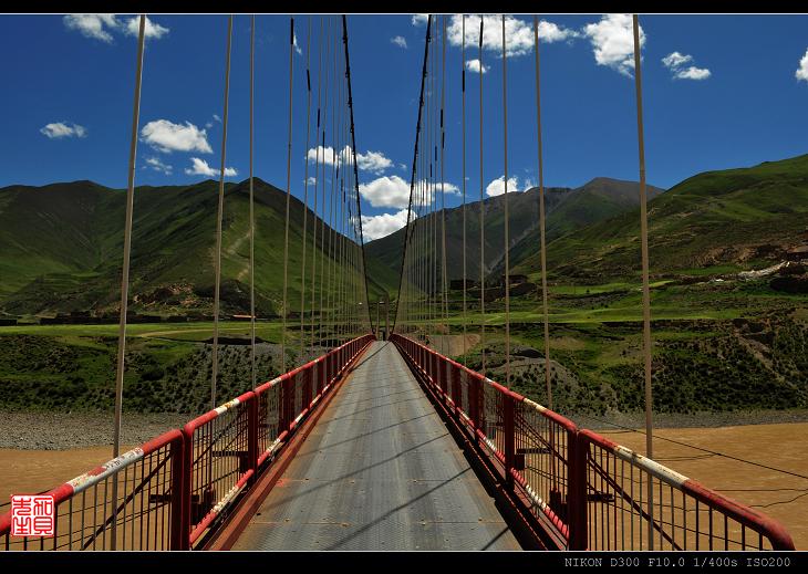 [原摄]通天河风光(4)--佐娘吊桥(10P) - 加贝先生 - 加贝先生的博客