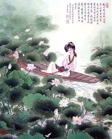 【七绝】夜采莲——与梅雪馆主和诗