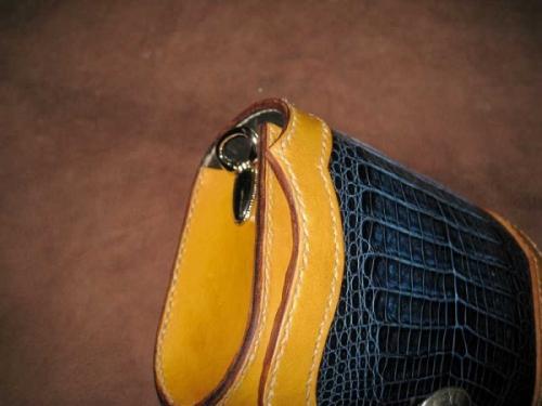 鳄鱼皮腰包侧包两款