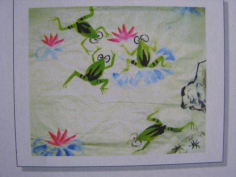 大班下册艺术活动 青蛙 原创