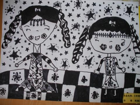 儿童线描画的创作步骤