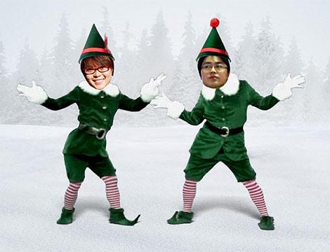 圣诞前夕,我和老公奉献一曲双人舞 - cafeblog - 许宁的博客 cafe blog