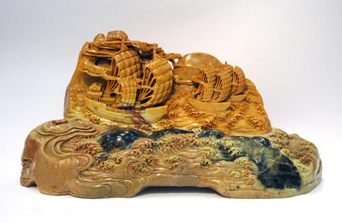 中国青田石雕艺术精品 - 禹山 - 萧闲鸿泥 禹山之博客