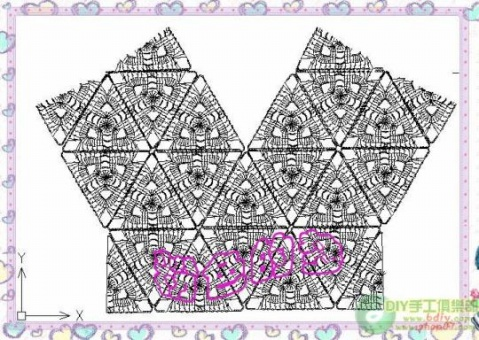 三角形花的背心   有一线钩的图解 - 开心就好 - fanghuatx的博客