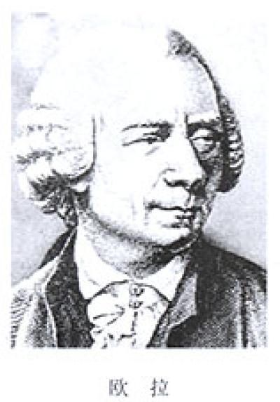 著名数学家、物理学家和天文学家欧拉(léon   ard euler)高清图片