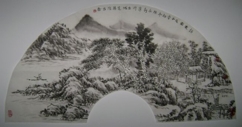 山水扇面 - 墨农 - 陈永新[墨农]工作室
